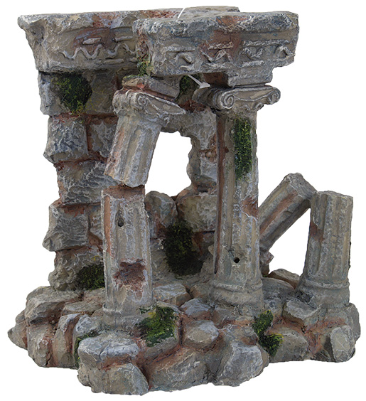 Dekorace AQUA EXCELLENT antické sloupy 14,3 x 12 x 14,4 cm