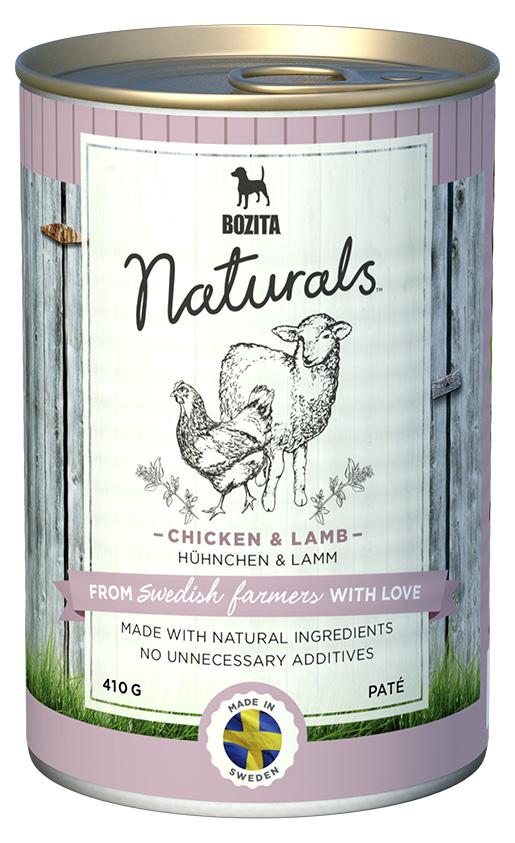 Bozita Naturals konzerva Chicken & Lamb 410g