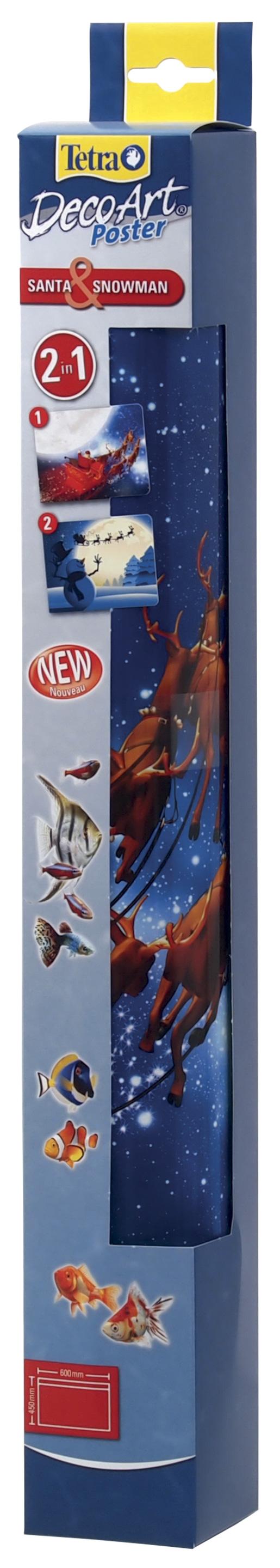 Pozadí TETRA DecoArt tapeta santa / sněhulák 60 x 45 cm