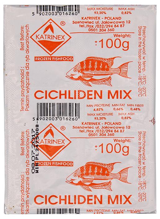Krmivo KATRINEX Cichliden mix mražené 100g