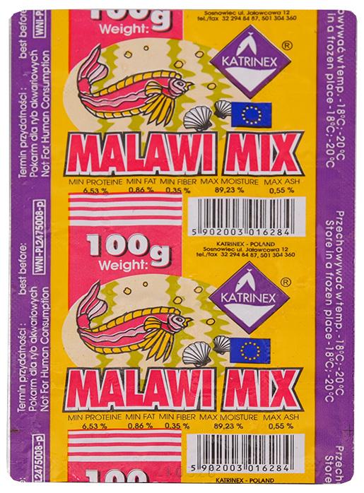 Krmivo KATRINEX Malawi mix mražené 100g