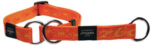 Obojek Rogz Alpinist polostahovací oranžový M