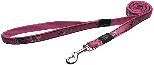 Vodítko ROGZ Fancy Dress Pink Bone L
