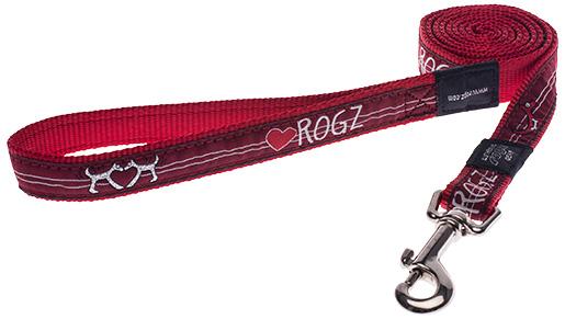 Vodítko ROGZ Fancy Dress Red Heart L
