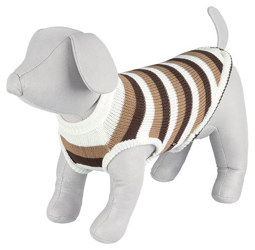 Svetr pro psy Trixie Hamilton hnědo-bílá S 40cm