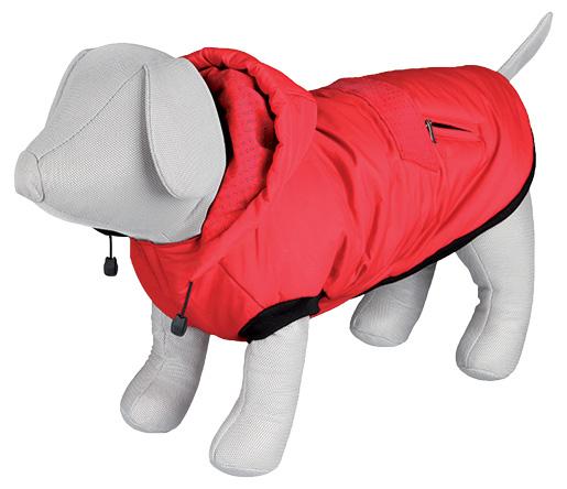 Vesta zimní pro psy Trixie S Palermo červená 36cm