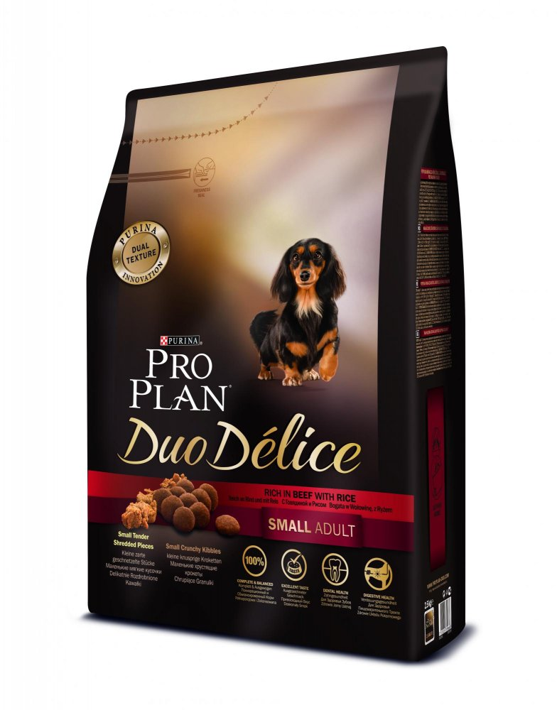 PRO PLAN DUO DÉLICE Small & Mini Adult hovězí 2.5kg