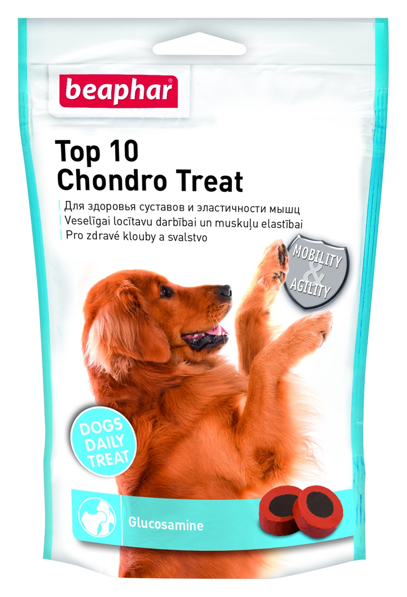 Doplňek stravy s glucosaminem Beaphar Top 10 Chondro Treat Beaphar Top 10 chondro treat 150 g
