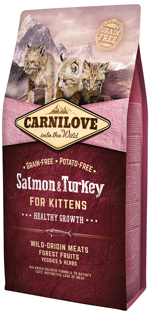 Carnilove Salmon and Turkey Kittens – Healthy Growth 6kg