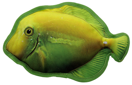 Hračka Dog Fantasy Textile Ryba žlutá 28cm