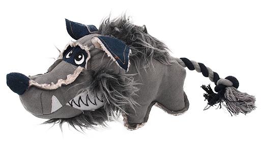 Hračka Dog Fantasy Textile Vlk
