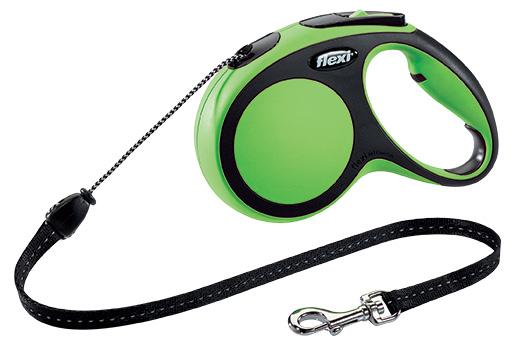 Vodítko Flexi New Comfort lanko M 5m zelené