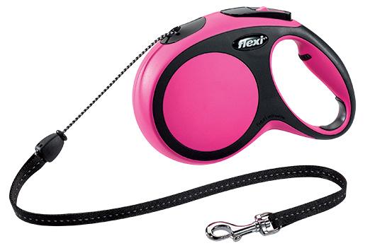 Vodítko Flexi New Comfort lanko M 8m růžové