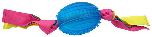 Přetahovadlo Dog Fantasy látka ovál modré 48cm