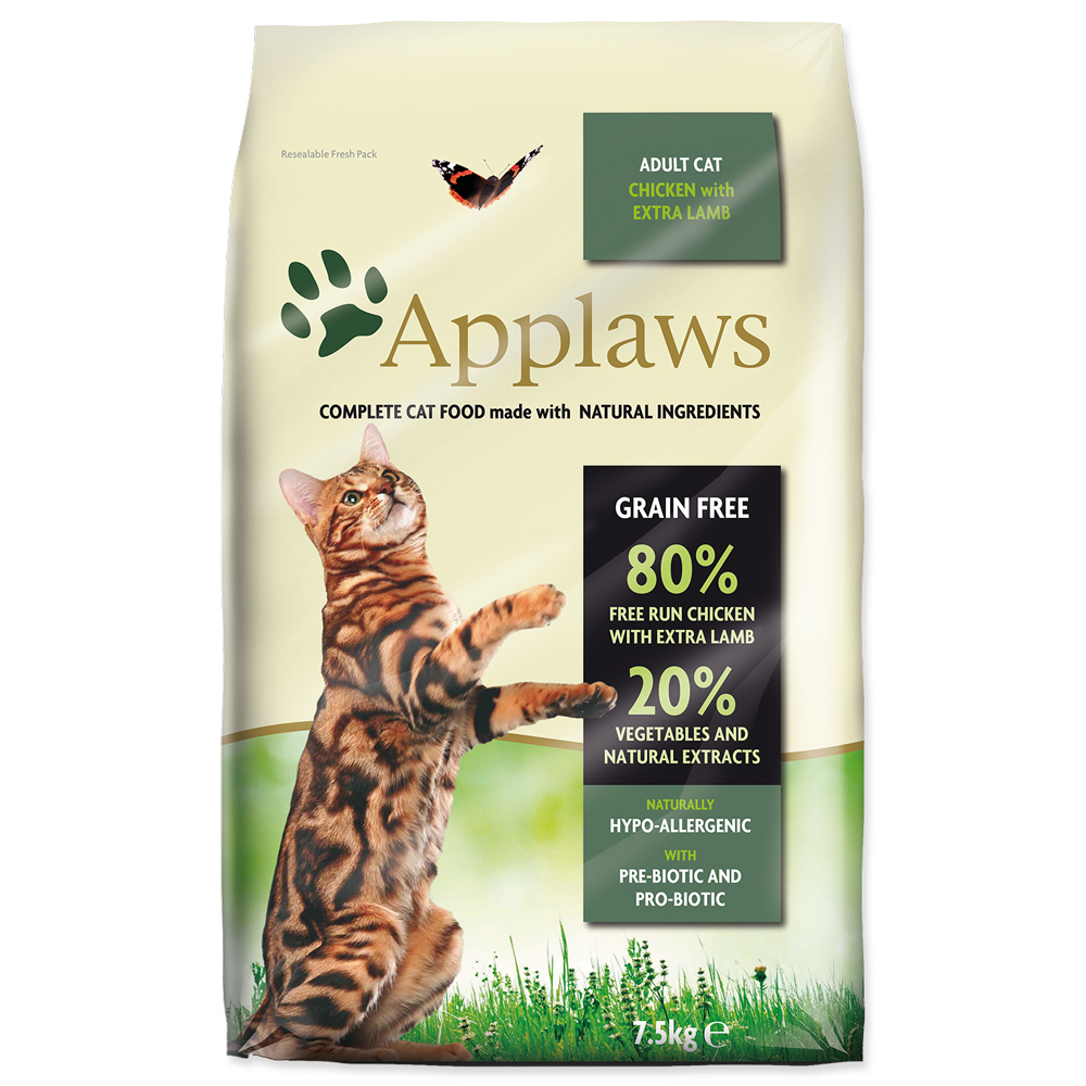 Krmivo Applaws Dry Cat kuře, jehně 7.5kg