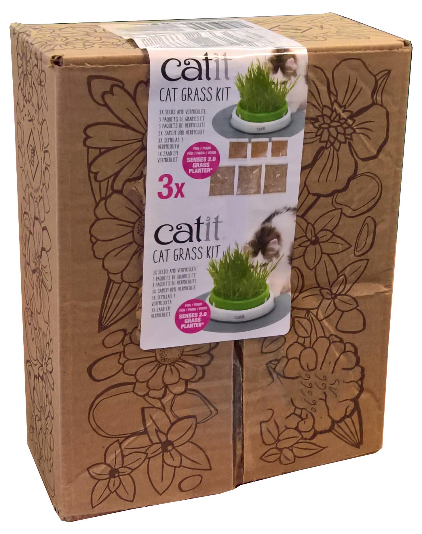 Cat It Catit Cat Grass Kit, set of 3