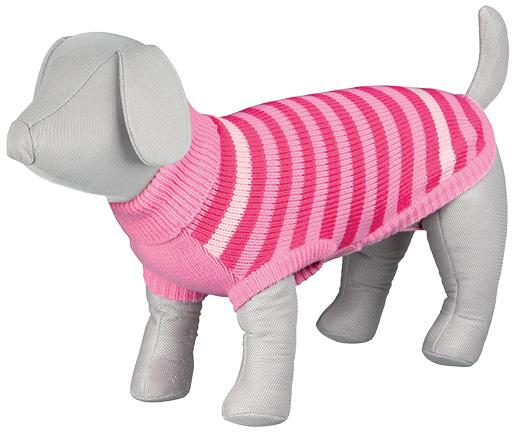 Svetr pro psy Trixie Barrie růžová XS 30cm