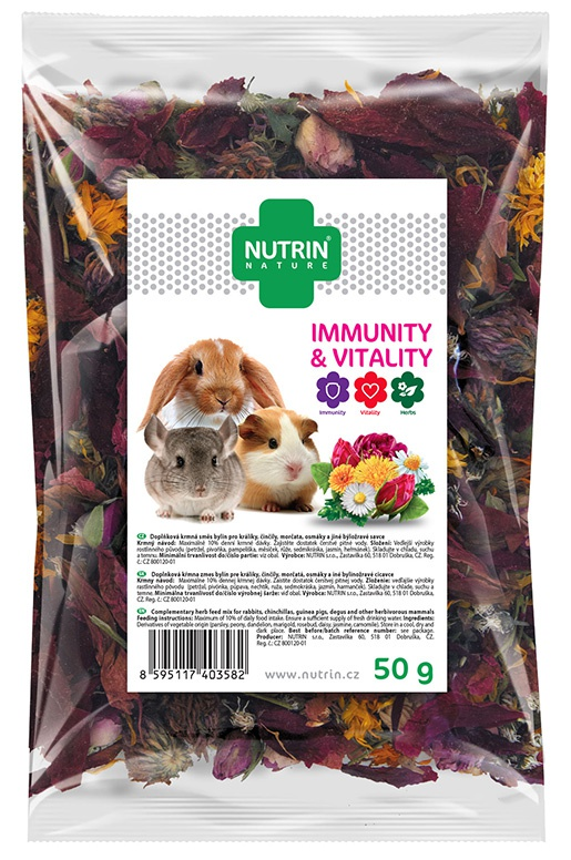 Darwin´s Pamlsek NUTRIN Nature Immunity & Vitality pro hlodavce 50g
