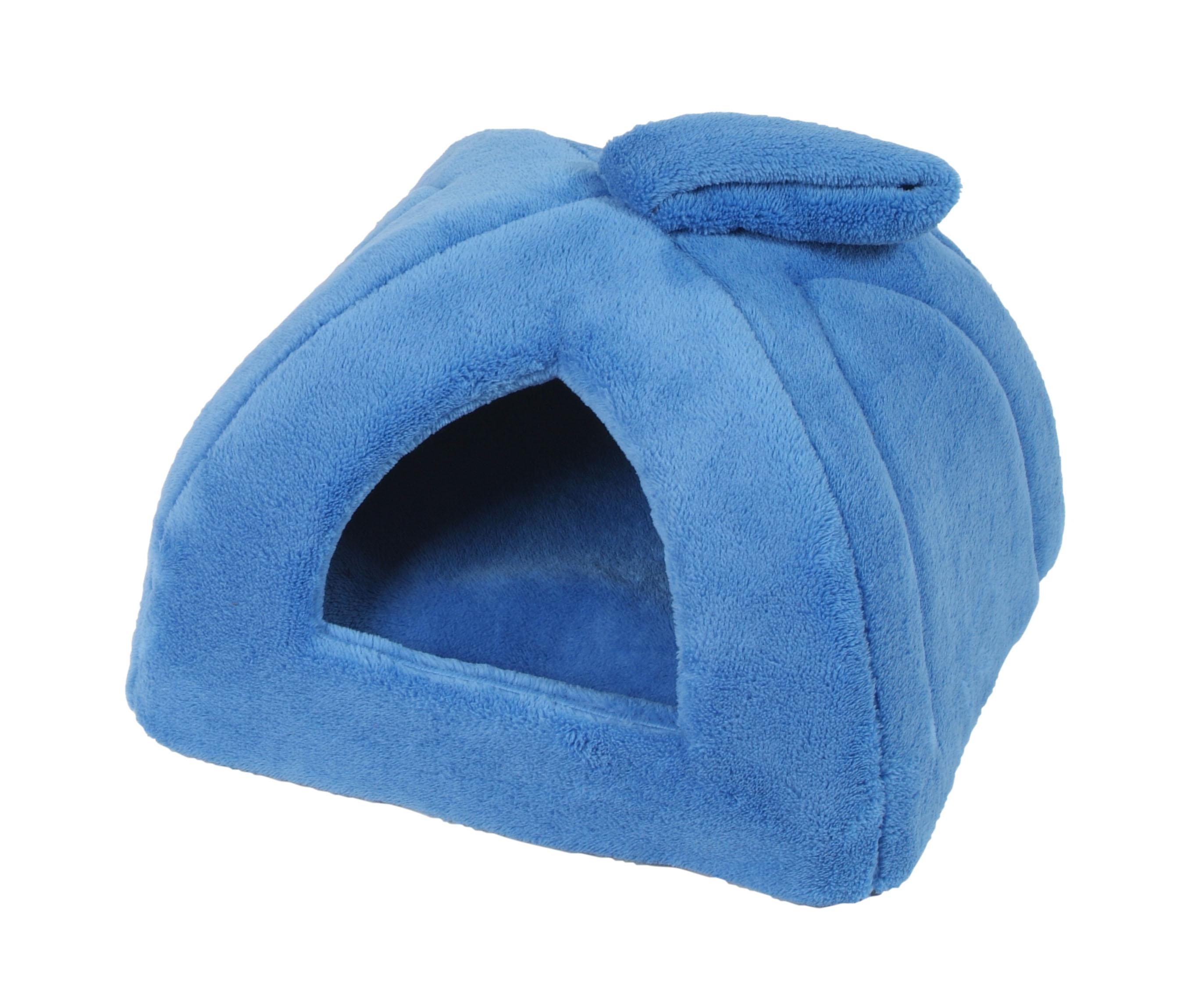 I love pets Domeček iglú modý 45x45cm
