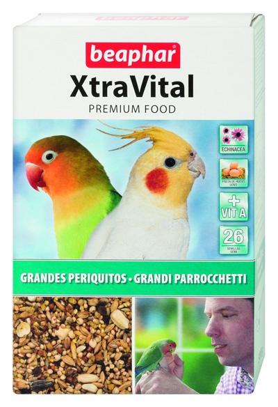 Krmivo BEAPHAR XtraVital pro střední papoušky 500g