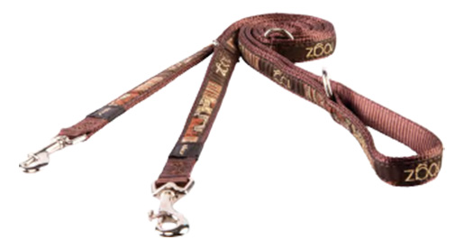 Rogz Vodítko Fancy Dress Mocha Bone přepínací 1,6x160cm