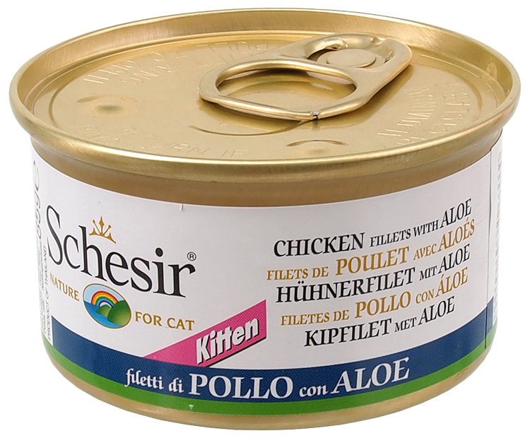 Konzerva SCHESIR Kitten kuřecí+Aloe 85g