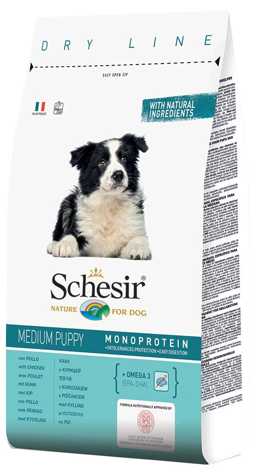 Krmivo SCHESIR Medium Puppy kuřecí 12kg