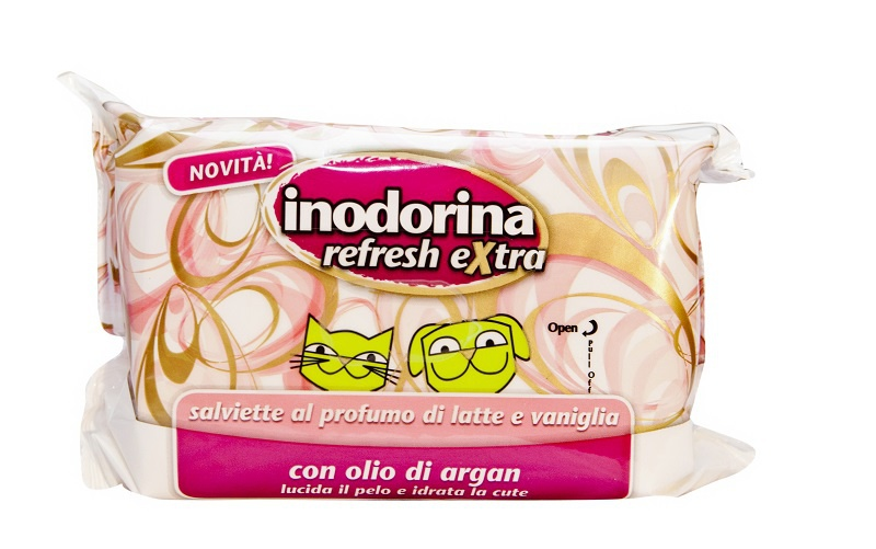 Ubrousky Inodorina Mléko a Vanilka s vitamíny 40ks