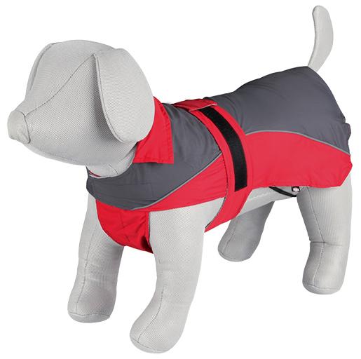 Pláštěnka pro psy Trixie M Lorient šedo-červená 50cm