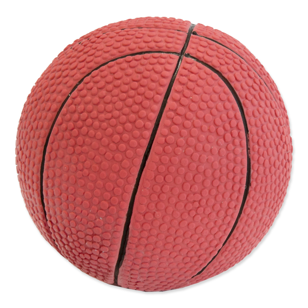 Hračka Dog Fantasy Latex Basketball míč se zvukem 7.5cm