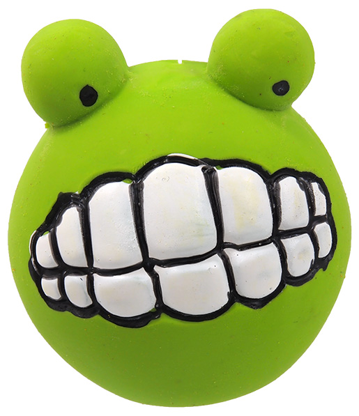 Hračka Dog Fantasy Latex Zuby se zvukem zelená 6cm