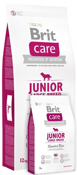 Brit Care Junior Large Breed Lamb & Rice 12+3 kg