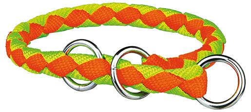 Obojek pro psy Cavo Trixie neonově oranžová/neonově zelená M 39cm