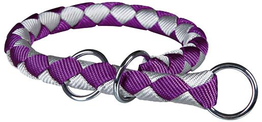 Obojek pro psy Cavo Trixie fialová/stříbrná M-L 43cm