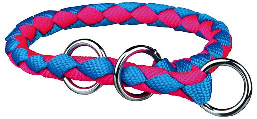 Obojek pro psy Cavo Trixie neonově modrá/neonově růžová M-L 43cm