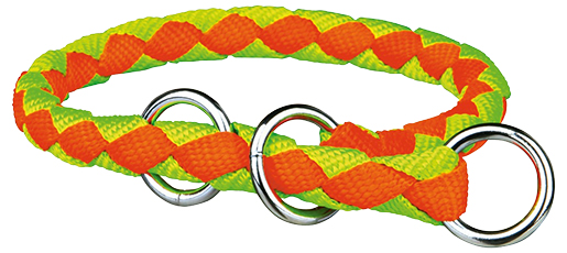 Obojek pro psy Cavo Trixie neonově oranžová/neonově zelená M-L 43cm
