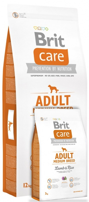 Brit Care Adult Medium Breed Lamb & Rice 12+3 kg