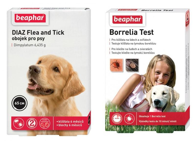 Beaphar Borrelia test + Beaphar DIAZ obojek