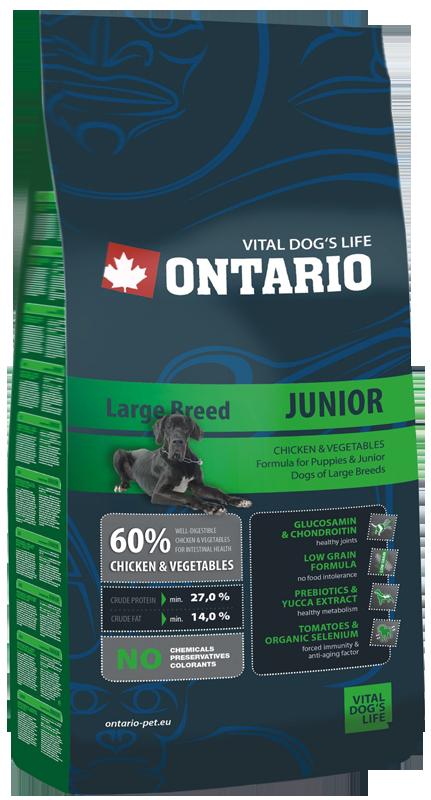 ONTARIO Junior Large Breed 2,5kg