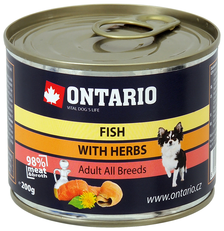 Konzerva Ontario Mini MULTI FISH and Salmon Oil 200g