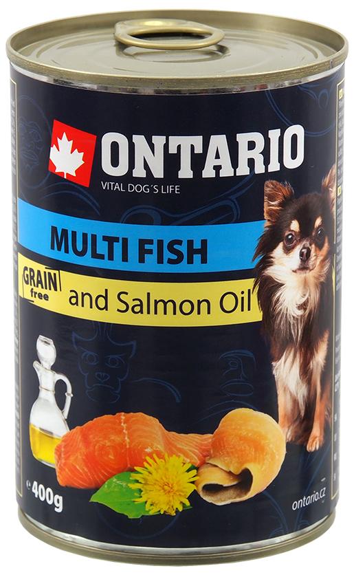 Konzerva Ontario Mini MULTI FISH and Salmon Oil 400g