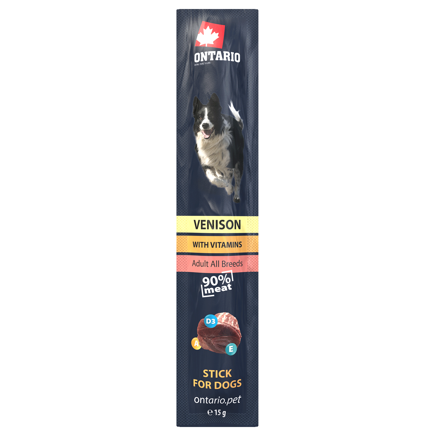ONTARIO Stick for dogs VENISON 15g