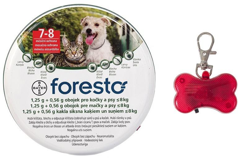 Obojek Foresto antiparazitní kočka+ malý pes 38cm + přívěsek zdarma