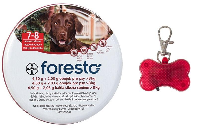Obojek Foresto antiparazitní 70cm + přívěsek zdarma