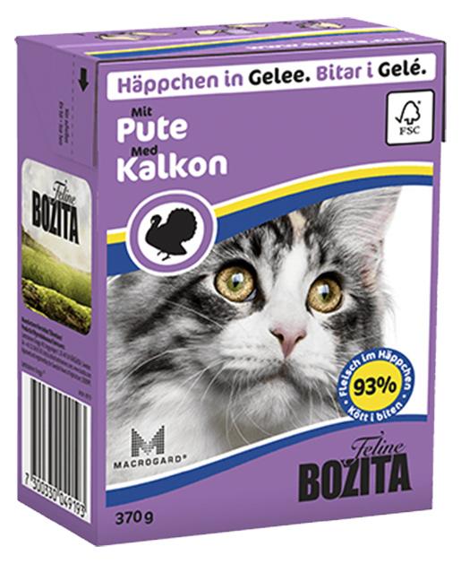 Kousky v želé BOZITA Cat s krůtím masem - Tetra Pak