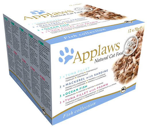 Konzervy APPLAWS Cat Fish Selection multipack 12 x 70g