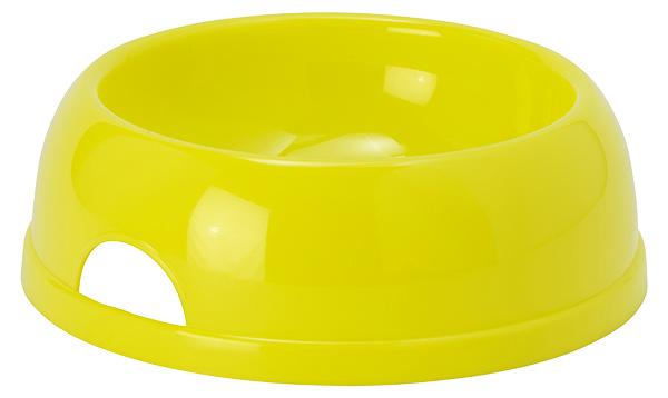 Miska DOG FANTASY plastová žlutá 25,2cm 1450ml