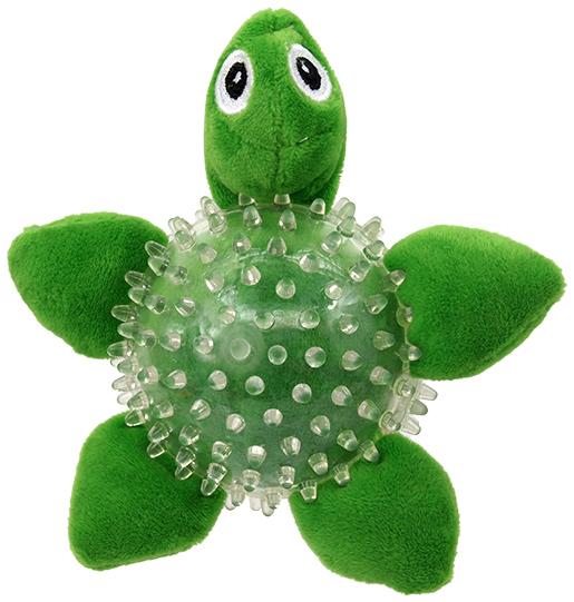 Hračka Dog Fantasy SEA TPR želva v míčku 9cm