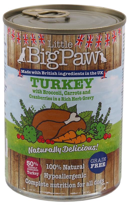 Konzerva Little Big Paw krůta 390g