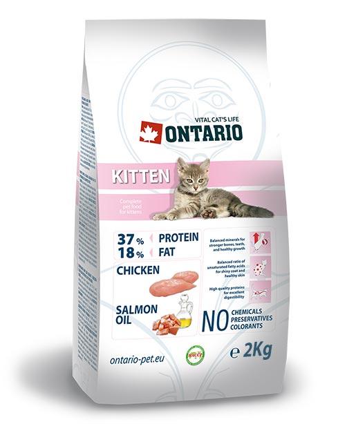 ONTARIO Kitten 2kg ONTARIO Kitten 2 kg + hračka zdarma